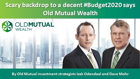 Scary backdrop to a decent #Budget2020 says Old Mutual Wealth