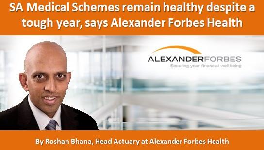 SA Medical Schemes remain healthy despite a tough year, says Alexander Forbes Health