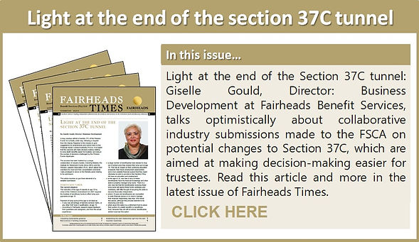 Light at the end of the section 37C tunn