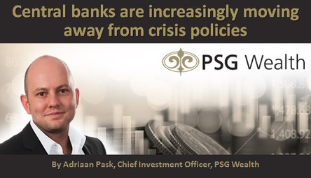 Central banks are increasingly moving away from crisis policies