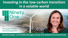 Investing in the low-carbon transition in a volatile world