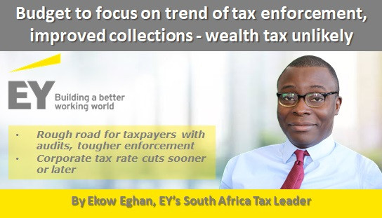 Budget to focus on trend of tax enforcement, improved collections - wealth tax unlikely