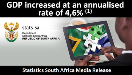 GDP increased at an annualised rate of 4,6% [1]