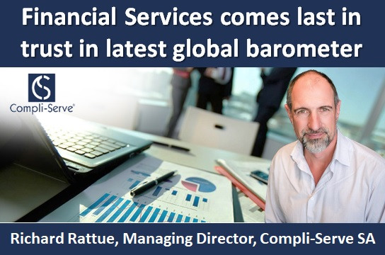 Financial Services comes last in trust in latest global barometer