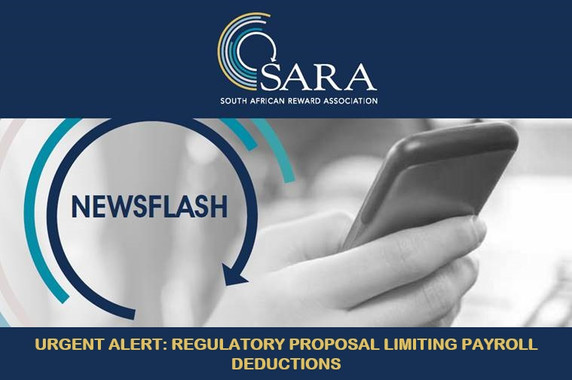 SARA Newsflash: Urgent Alert - Regulatory Proposal limiting Payroll Deductions
