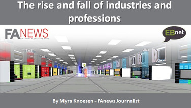The rise and fall of industries and professions