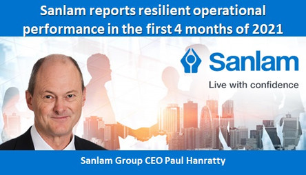 Sanlam reports resilient operational performance in the first 4 months of 2021