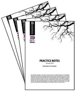 King IV Practice Note: Declaration of interests