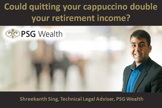 Could quitting your cappuccino double your retirement income?