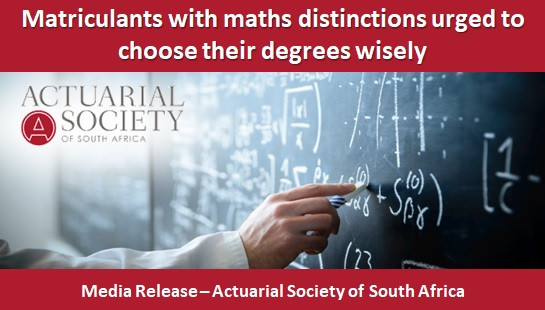 Matriculants with maths distinctions urged to choose their degrees wisely