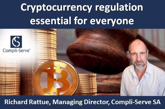 Cryptocurrency regulation essential for everyone