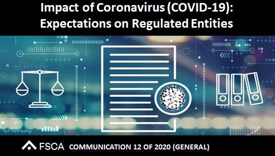 Impact of Coronavirus (COVID-19): Expectations on Regulated Entities
