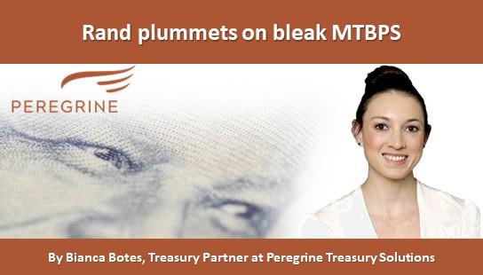 Rand plummets on bleak MTBPS