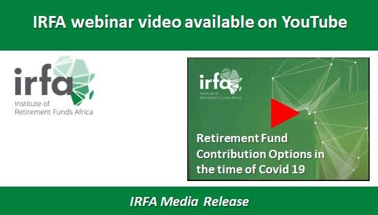 IRFA webinar video available on YouTube
