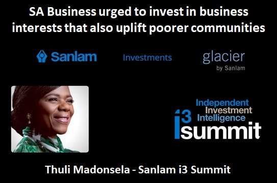 SA Business urged to invest in business interests that also uplift poorer communities