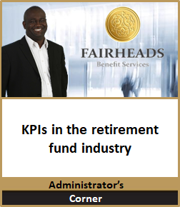 KPIs in the retirement fund industry 1.p