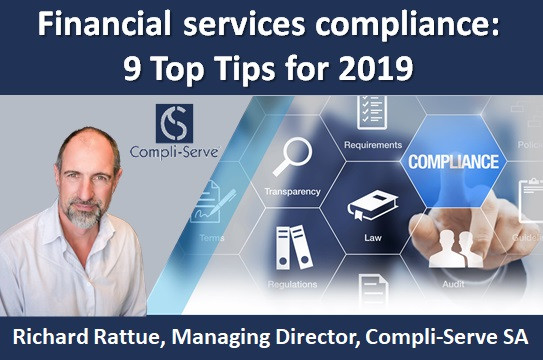 Financial services compliance: 9 Top Tips for 2019