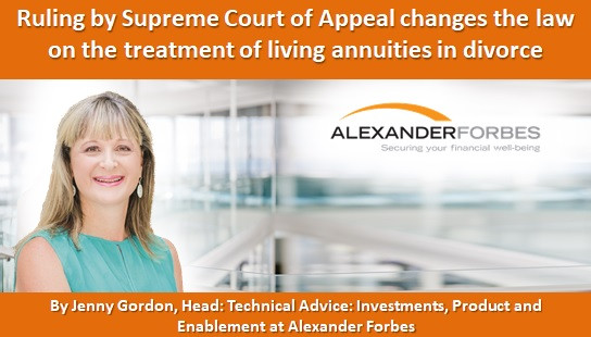 Ruling by Supreme Court of Appeal changes the law on the treatment of living annuities in divorce