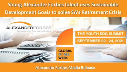 Young Alexander Forbes talent uses Sustainable Development Goals to solve SA's Retirement Crisis