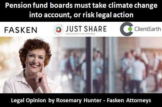 Pension fund boards must take climate change into account, or risk legal action