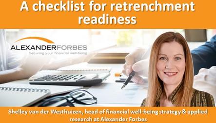 A checklist for retrenchment readiness