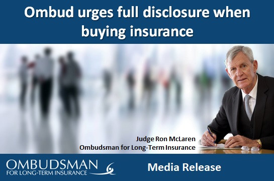 Ombud urges full disclosure when buying insurance