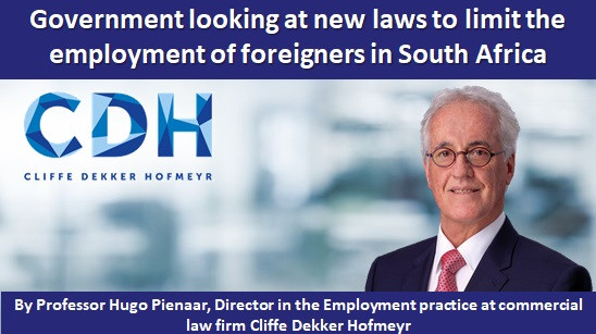 Government looking at new laws to limit the employment of foreigners in South Africa