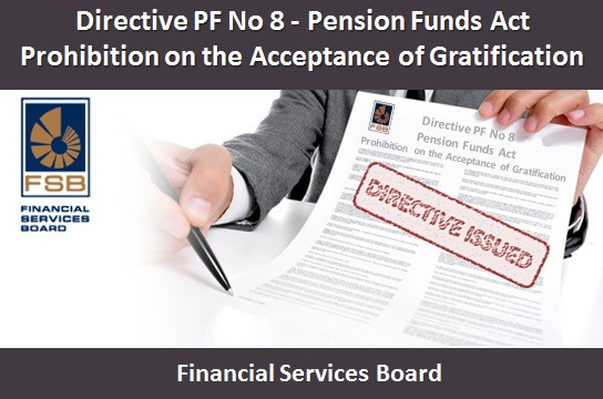 Directive PF No 8 - Pension Funds Act Prohibition on the Acceptance of Gratification