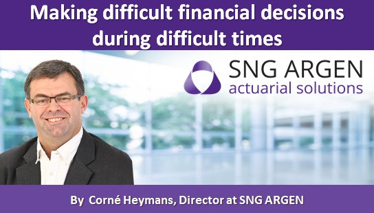 Making difficult financial decisions during difficult times