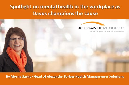 Spotlight on mental health in the workplace as Davos champions the cause