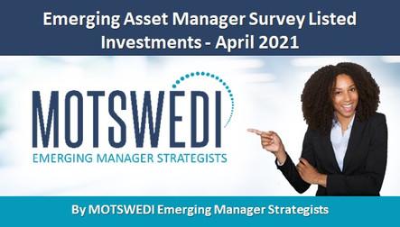 Emerging Asset Manager Survey Listed Investments - April 2021