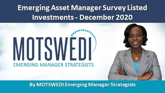 Emerging Asset Manager Survey Listed Investments - December 2020