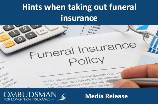 Hints when taking out funeral insurance