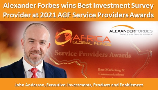 Alexander Forbes wins Best Investment Survey Provider at 2021 AGF Service Providers Awards