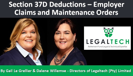 Section 37D Deductions – Employer Claims and Maintenance Orders