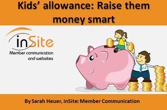 Kids' allowance: Raise them money smart