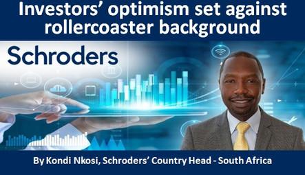 Investors' optimism set against rollercoaster background