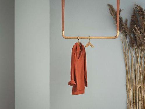 Trapeze clothes rack