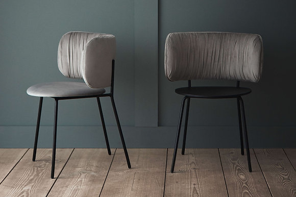 Pleat upholstered dining chair