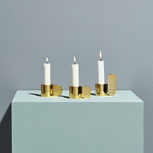 Art candle holder- circle
