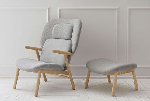 Cosh armchair with high back