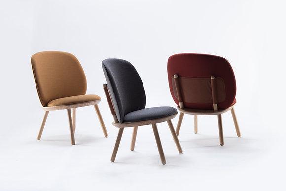 Naive armchair natural wood