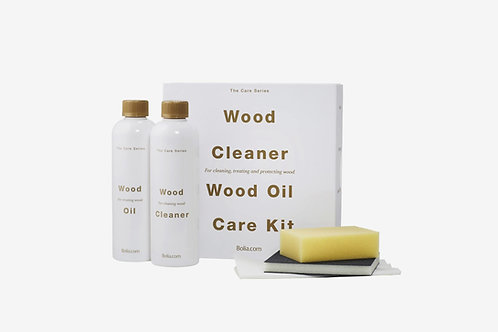Care set for oiled pigmented wood