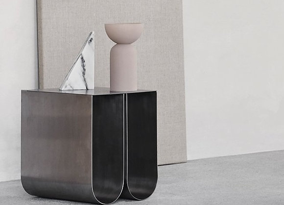 Curved side table- Chrom