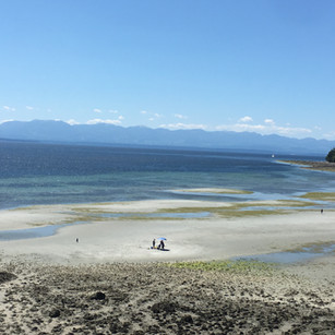 Miles of beach at low tide