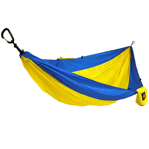 HANGEASY DOUBLE HAMMOCK YELLOW BODY/ROYAL SIDES