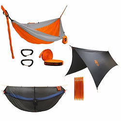 Lightweight Aluminum Hammock Tent Stakes with Stuff Sack
