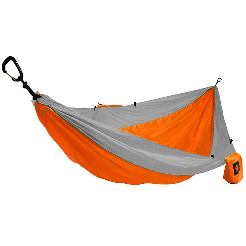 HANGEASY DOUBLE HAMMOCK ORANGE BODY/GREY SIDES