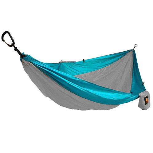 HANGEASY DOUBLE HAMMOCK GREY BODY/AQUA SIDES