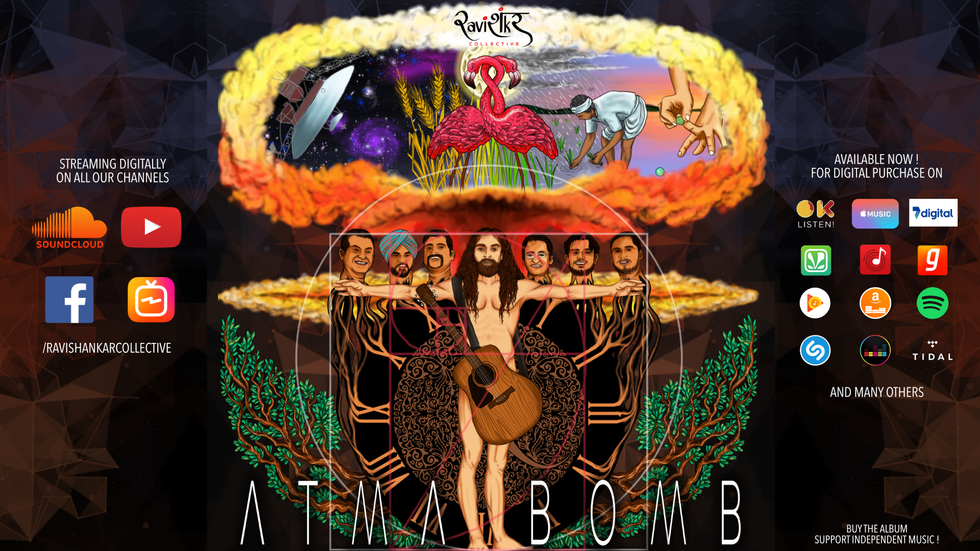'ATMA BOMB' OUT NOW ACROSS ALL MAJOR MUSIC PLATFORMS ! BUY IT ONLINE TODAY !
